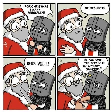 Which Is Better Halloween Or Christmas Armor Knightmemes Deusvult Templar Crusader Crusades Knights Memes Jerusalem H Memes Crusades Dark Souls Meme