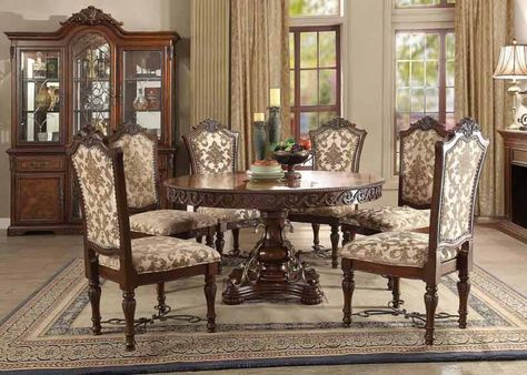 Acme Furniture  Wycliff 8 Piece Dining Room Set  601558Set Mesmerizing Acme Dining Room Set Decorating Design