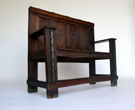 Veilinghuis Antieke Meubelen.Online Veilinghuis Catawiki Eikenhouten Halbank Ca 1700