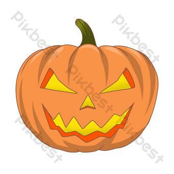 Scary Pumpkin Lantern Ghost Illustration Png Images Psd Free Download Pikbest In 2020 Scary Pumpkin Png Images Image