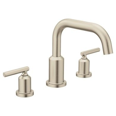 Gibson Brushed Nickel Two Handle Non Diverter Roman Tub Faucet