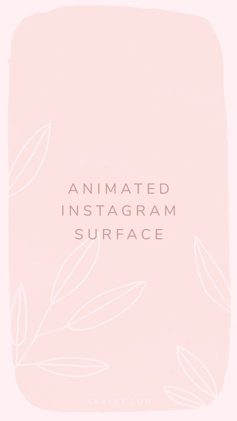 Romantic & Pastel Animated Instagram Stories for wedding design  social media templates by ana & yvy