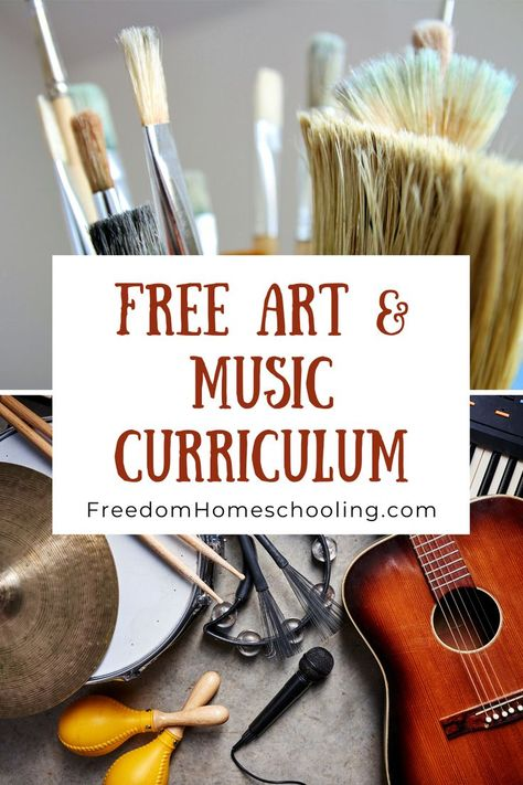 Free Homeschool Art & Music Free art and music curriculum for all ages. Free Homeschool Curriculum, Art Curriculum, Homeschooling, Kindergarten Music, Homeschool Kindergarten, Preschool, Music Education, Physical Education, Outdoor Education