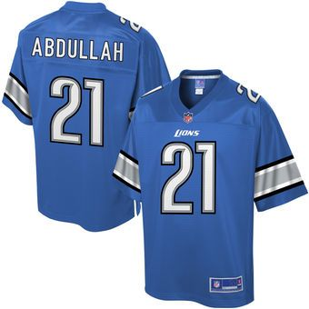 Pro Line Mens Detroit Lions Ameer Abdullah Team Color NFL Jersey ...