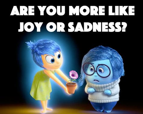 """I got Sadness.. :( what about you?   Are You More Like Joy Or Sadness From Disney's """"Inside Out"""""""