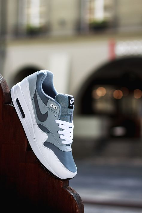 "Nike Air Max 1 Leather ""Grey, White & Black"""