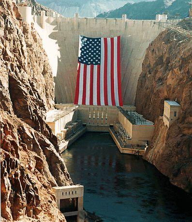 Largest U.S. Flag?   Large american flag, Hoover dam, America
