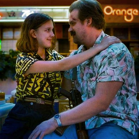 Stranger Things Eleven and Chief Hopper, Season 3, Millie Bobby Brown, David Harbour