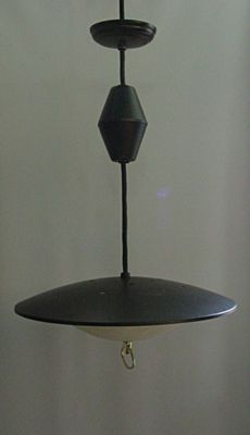 Vintage Mid Century Modern Retractable Pull Down Light Fixture Black Homes Pinterest Ceiling Medallions Pulley And Ceilings