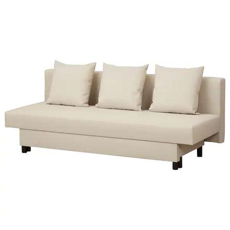 Asarum Canape 3 Places Convertible Beige Sofa Beige Sofa Ikea