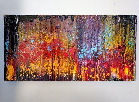 Onwijs Originele abstracte gemengde Media Canvas schilderij - Modern TL-59