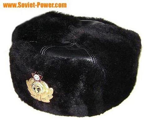 9fa7e13f3496f Russian Navy Capatins black leather Ushanka hat in 2019