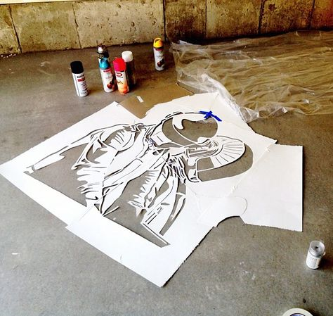 Daft Punk Stencil Watercolor Paper 140 Weight Stencils