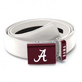 Alabama Crimson Tide Zephyr NCAA Mission Belt (White