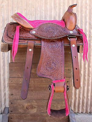 Advertisement Ebay 10 Pony Horse Saddle Kids Cowboy Cowgirl Leather Pink Western Saddle In 2020 Mini Horse Horse Saddles Pony Horse