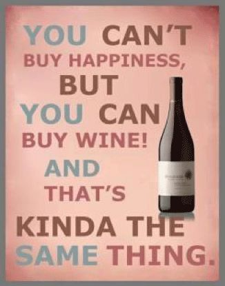 You Can/'t Buy Happiness og Wine funny fridge magnet