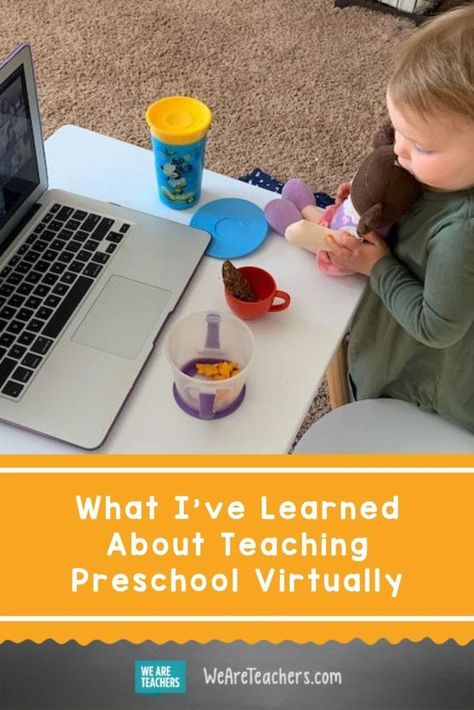 What I've Learned About Teaching Preschool Virtually. Preschool students can continue their virtual learning with these dos and don'ts for the online learning classroom during school closures. Pre K Activities, Preschool Learning Activities, Preschool Lessons, Nursery Activities, Learning Resources, Preschool Rules, Preschool Classroom, Classroom Ideas, Classroom Rules
