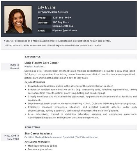 Inspiring Cv Template Photo Pictures Photo Resume Templates