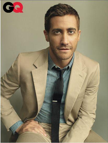 Tan suit & Jeans shirt
