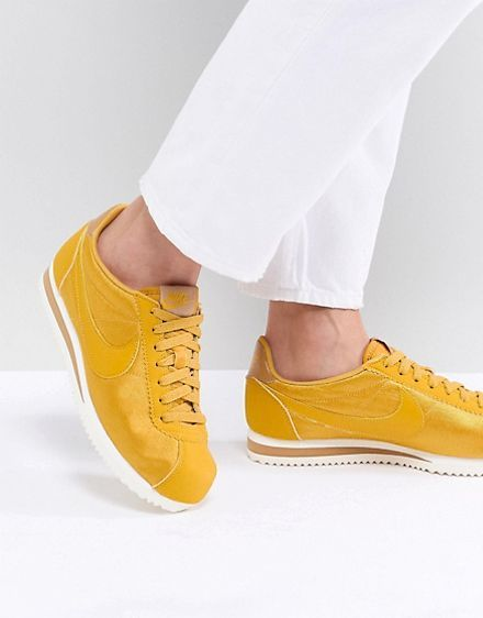 zapatillas nike cortez amarillo