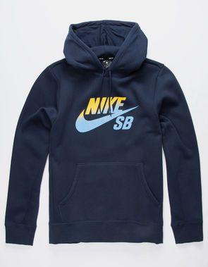 NIKE SB x NBA Icon Navy Mens Hoodie | Hoodies men, Nike