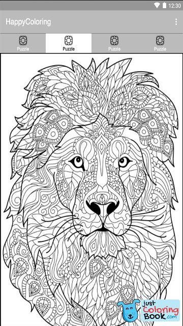 Paintnumber Happy Color Pixel App Games Design Lion Inside Happy Lion Coloring Pages Printable For F Animal Coloring Books Lion Coloring Pages Coloring Books
