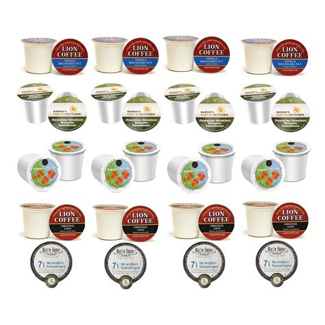 Hawaiian Single Serve Coffee K-cups Variety Pack