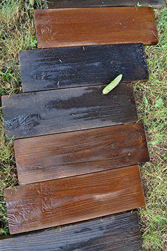 2 Formen Alte Holzbretter Betonform Garten Sprungbrett Pfad Patio