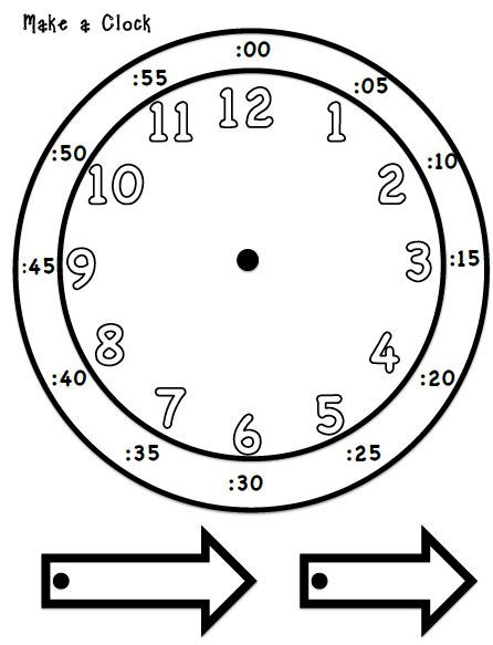 Telling Time Make You Own Clock  Math Activities