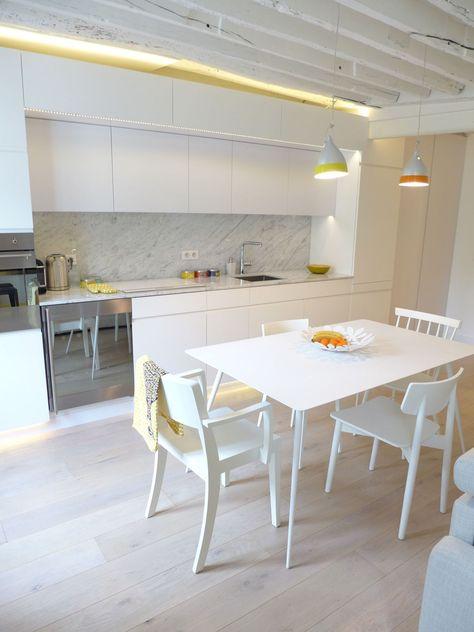 Aménagement salon design avec cuisine ouverte Pinterest