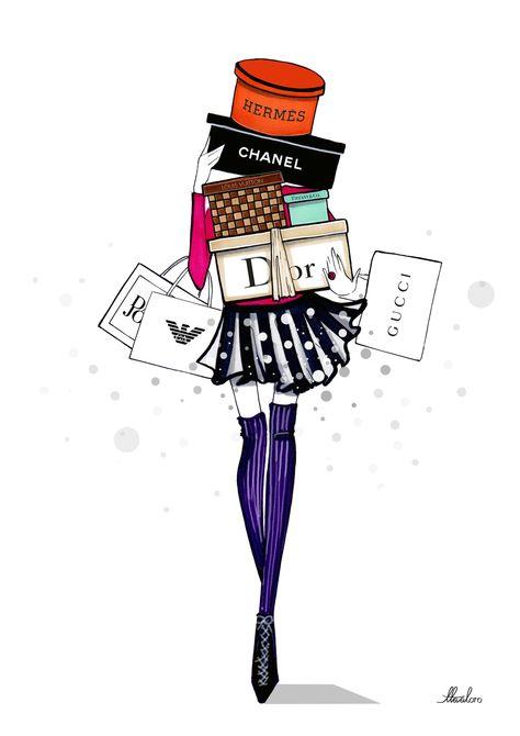 Freelance illustrator, Aaron Favaloro. #aaron favaloro, #fashion illustrator, #holidays,