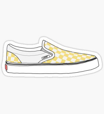 Yellow Stickers Vans Stickers