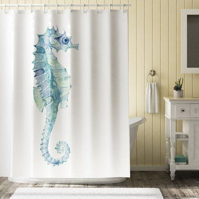 Seahorse Shower Curtain By Chyworks 68 00 Shower Curtain