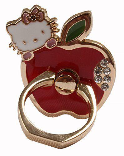 e2b9673d3 Phone Ring - Hello Kitty Cat Love Apple Round Phone Stand Universal (Gold) /