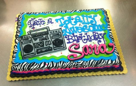 Totally Awesome Birthday Sheet Cake by Stephanie Dillon LS1 Hy-Vee