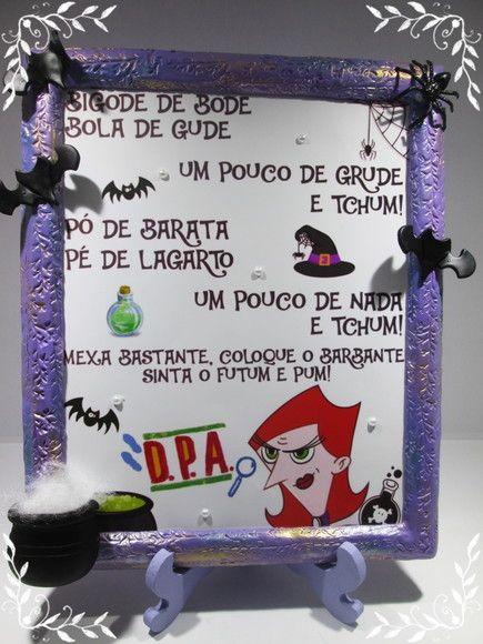 Porta Retrato Decorado Em Biscuit Com Pocao Magica Da Dona