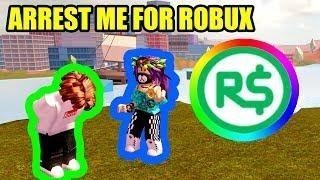 Arrest Me For 1000 Robux Challenge Roblox Jailbreak Live Roblox