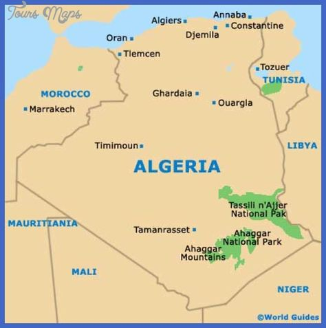 Algeria Map Algerie Pinterest Africa Volcano And Morocco - Algeria map