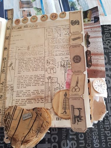 A Junk Journal Page Based On Sewing Vintage Junk Journal Vintage Journal Art Journal Pages