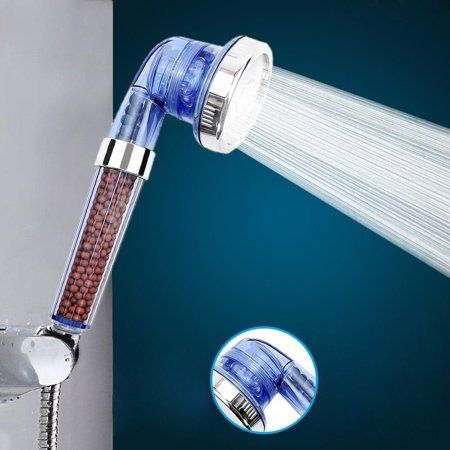 Filtered Hand Held Shower Head Softens Hard Water Increases Water