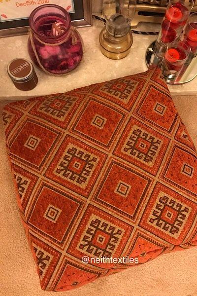Orange Moroccan Floor Cushion In 2020 Moroccan Floor Cushions