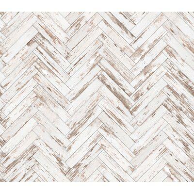 Union Rustic Parquet 10 L X 24 W Peel And Stick Wallpaper Roll Wayfair Ca In 2020 Herringbone Wallpaper Farmhouse Wallpaper Peel And Stick Wallpaper