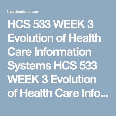 evolution of healthcare information systems paper