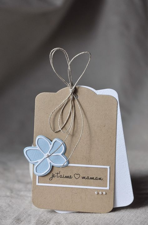 hand created tag ... clean and simple ... layered die cut flower ... label ... simply graphic