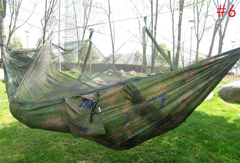Camp Sleeping Gear Double Parachute Net Hammock Chair Sleeping Bag Tourism Garden Swing Camping Hangmat Sleeping Hamac Possessing Chinese Flavors