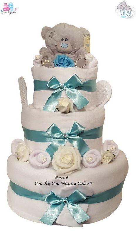 Beautiful 3 Tier Lemon Unisex Nappy Cake New Mum Baby Shower Gift//Present