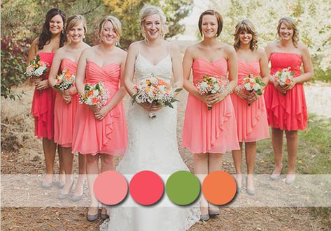 Popular Rustic Bridesmaid Dresses Colours For Your Country Weddings #coralweddingideas #tulleandchantilly #bridesmaiddresses