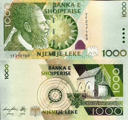 Denomination 1 000 Leke Pick 73b Bank Notes French West Africa Belgian Congo