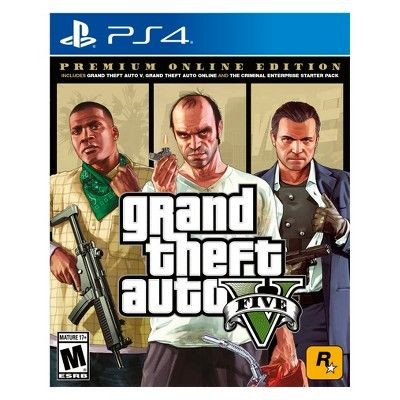 Grand Theft Auto V Premium Edition Playstation 4 Grand Theft Auto Ps4 Or Xbox One Rockstar Games