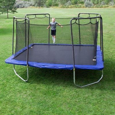 Skywalker Trampolines 15 Foot Square Trampoline And Enclosure Blue Foot Skywalker Trampolines Best Trampoline Backyard Trampoline Trampoline